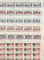 1961 Italia Italy Repubblica UNITA' D'ITALIA 50 Serie Di 6v. In Foglio MNH** Sheet - Fogli Completi