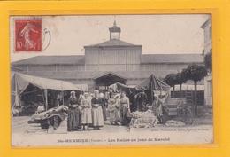 SAINTE-HERMINE -85- Les Halles Un Jour De Marché - Animation - Sainte Hermine