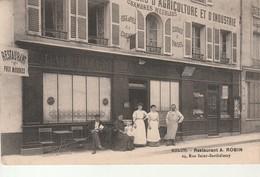 Melun-Restaurant A.Robin-29 Rue St Barthelemy. - Melun