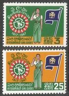 Ceylon. 1967 Golden Jubilee Of Girl Guides Association. MH Complete Set. SG 532-533 - Sri Lanka (Ceylon) (1948-...)
