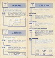 1965 : LES BEAUX DIMANCHES DE LA SNCF, TRAINS SPECIAUX D' EXCURSIONS AU DEPART DE PARIS, 12 PAGES (10,5 Cm Sur 22 Cm) - Europe
