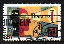 USA. N°3191 Oblitéré De 2001. Diabète/Microscope. - Disease