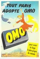 PUB Publicité NUGERON J 106 Tout Paris Adopte OMO  (lessive)    (-Bibliothéque Fornay)*PRIX FIXE - Advertising