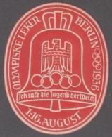 F-EX4081 GERMANY DEUTSCHLAND CINDERELLA 1936 OLIMPIC GAMES BERLIN. FINLAND WRITER. MNH. - Allemagne