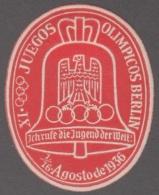F-EX4086 GERMANY DEUTSCHLAND CINDERELLA 1936 OLIMPIC GAMES BERLIN. SPANISH WRITER. MH. - Allemagne