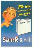 PUB Publicité NUGERON J 108  SAUTER Elle Lave Comme Vous, Mais...plus Vite   (-Bibliothéque Fornay)*PRIX FIXE - Advertising