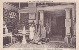 BOURBON L'ARCHAMBAULT 03 ALLIER BUVETTE DE L'ETABLISSEMENT  BELLE CARTE RARE !!! - Bourbon L'Archambault
