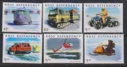 Ross Dependency 2000 Transport On The Ice 6v ** Mnh (39440) - Ross Dependency (Nieuw-Zeeland)