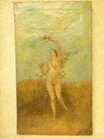 ZO Achille-Henri - Femme Nue à La Mandoline - Art XIX/XXe - Peintures, Huiles, Nus - Oils