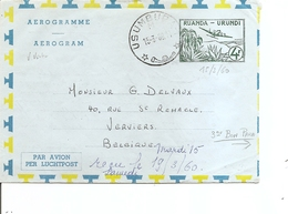 RuandaUrundi ( Aérogramme De 1960 De Usumbura Vers La Belgique à Voir) - 1948-61: Covers