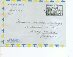 RuandaUrundi ( Aérogramme De 1960 De Usumbura Vers La Belgique à Voir) - Ruanda-Urundi