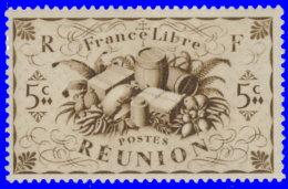Réunion 1943. ~ YT 233** - 5 C. Série De Londres - Isola Di Rèunion (1852-1975)