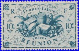 Réunion 1943. ~ YT 234** - 10 C. Série De Londres - Réunion (1852-1975)