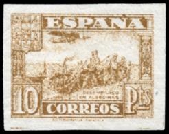 ** 813s. Junta De Defensa. 10 Ptas. Sin Dentar. Lujo. Certificado GRAUS. Cat. 156 €. - 1931-Hoy: 2ª República - ... Juan Carlos I