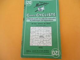 Pneu Michelin / Carte Cycliste/ 50 Km Autour De Paris/ Services De Tourisme/1955     PGC199 - Roadmaps