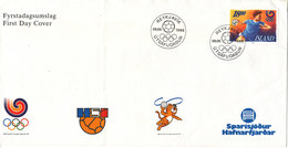 Iceland FDC 9-6-1988 Olympic Stamp HANDBALL (the Cover Is Bended) - Summer 1988: Seoul