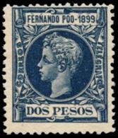 FERNANDO PÓO. (*) 69. 2 Pesos. Centraje Habitual. Color Intenso. - Fernando Po