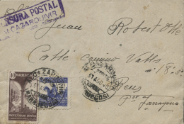 MARRUECOS. Ø 239 En Carta De Alcazarquivir A Reus, El 31/8/43. Marca De Censura. - Marruecos Español