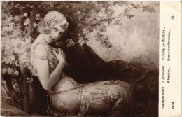 CPA Salon De Paris G. BUSSIERE Viviane Et Merlin (702137) - Peintures & Tableaux