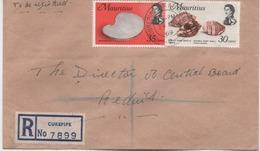 ILE MAURICE  RECOMMANDE  BUREAU  CURPIPE - Maurice (1968-...)