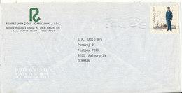 Portugal Air Mail Cover Sent To Denmark Lisboa 2-4-1983 - Airmail