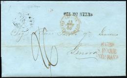 D.P. 25. Carta Circulada De Gibraltar A Génova, El 18/11/1850. - ...-1850 Prephilately
