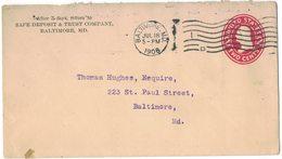 A91   U.S.A 1908 - 2 C Postcard Baltimora - Interi Postali