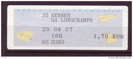 ## France, Rennes Ga Longchamps 35 - 2000 «Avions En Papier»