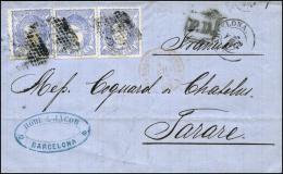 Ø 107(3) En Carta De Barcelona A Francia. Preciosa. - Cartas