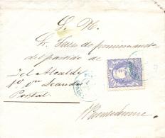 Ø 107 En Carta De Correo Interior De Puentedeume, El 7/12/1870. Muy Bonita Y Rara. - Cartas