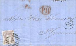 Ø 109 En Envuelta De Coruña A Gran Bretaña, El Año 1870. - Cartas