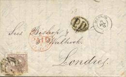 Ø 109 En Carta De Madrid A Londres, El Año 1870. - Cartas