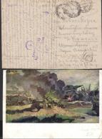 RUSIA. Preciosa Postal Circulada En Franquicia Militar, Durante La 2ª Guerra Mundial, Desde Leningrado. - Covers & Documents
