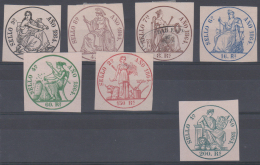 Pólizas. (*)/Ø 34/42 (sin Nº 38 Ni 40). Año 1864. - Fiscales