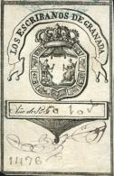 GRANADA. Sello Utilizado En El Año 1850. - Fiscales