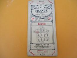 Carte Michelin De La France  En 48 Feuilles/ RENNES/ N°14/Bureau D'Itinéraires/Vers 1910 - 20       PGC201 - Cartes Routières