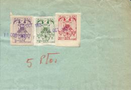 MOLINS DE REI. 3 Sellos Fiscales De 50 Cts, 1 .5  Y 3 Ptas. Año 1952. Raros. - Steuermarken