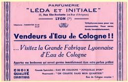 Buvard Eau De Cologne. Parfumerie Léda Et Initiale à Lyon. - Parfum & Kosmetik