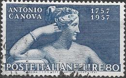 ITALY 1957 Birth Bicentenary Of Canova (sculptor) - 80l. Pauline Borghese (bust) FU - 1946-60: Gebraucht