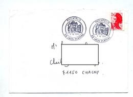Lettre Cachet Laon Philatelie Chateau - Marcophilie (Lettres)