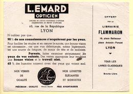 Buvard Opticien L.Emard à Lyon. Offert Par La Librairie Flammarion. - Löschblätter, Heftumschläge