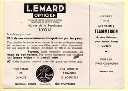 Buvard Opticien L.Emard à Lyon. Offert Par La Librairie Flammarion. - O