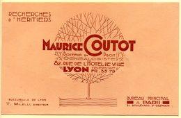 Buvard Maurice Coutot, Recherche D'héritiers. Lyon. - Autres