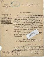 VP12.702 - PARIS 1885 - Lettre De La Cie Des Chemins De Fer De L'Est Concernent La Ligne De FLAMBOIN à MONTEREAU - Chemin De Fer