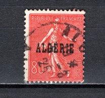 ALGERIE N° 27  OBLITERE  COTE  0.80€ TYPE SEMEUSE - Algérie (1924-1962)