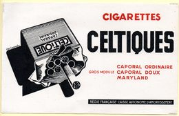 Buvard Cigarettes Celtique. - Tabac & Cigarettes