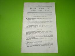 Autorisation D'un Chemin De Fer De Paris à Saint Germain : Cahier Des Charges, Tarifs....18 Pages - Decreti & Leggi