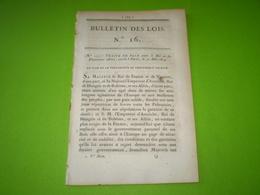 Loi 1814:traité De Paix France, Autriche, Hongrie,Bohême,Russie,Grande Bretagne,Prusse.Nouvelles Frontières De La France - Decreti & Leggi