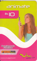 BOLIVIA - Girl On Phone, Viva Prepaid Card Bs 10, Exp.date 09/03/10, Used - Bolivia