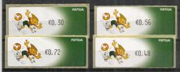 Portugal Football UEFA Euro 2004 ATM E-Post.priority Mail , MINT / NEUFS ** Adhesifs Set - Football